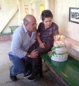Henry's birthday cake